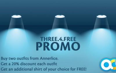 """THREE FOR FREE"""